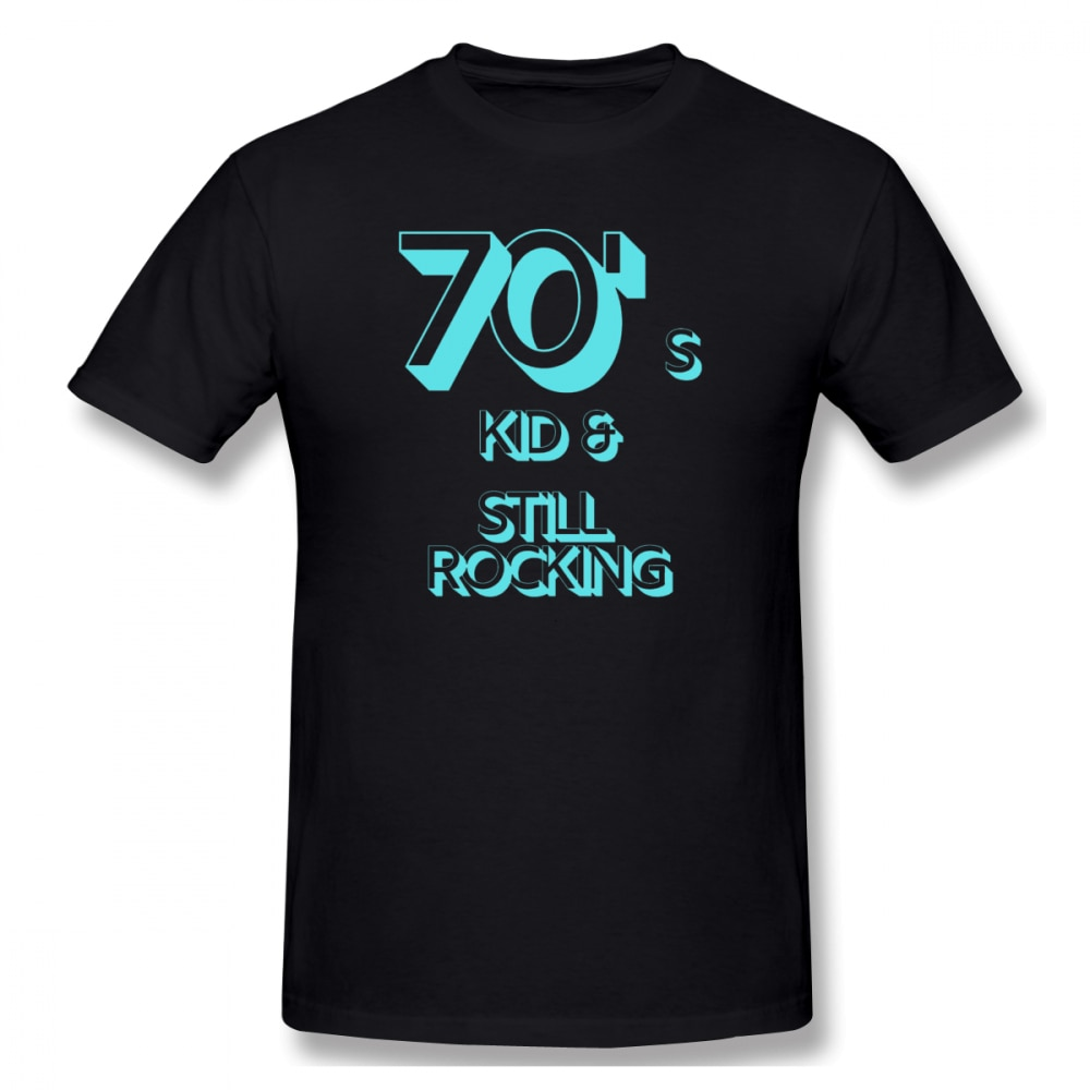 2021 novo 70s criança e ainda balançando 70s básico dos homens manga curta camiseta tamanho europeu