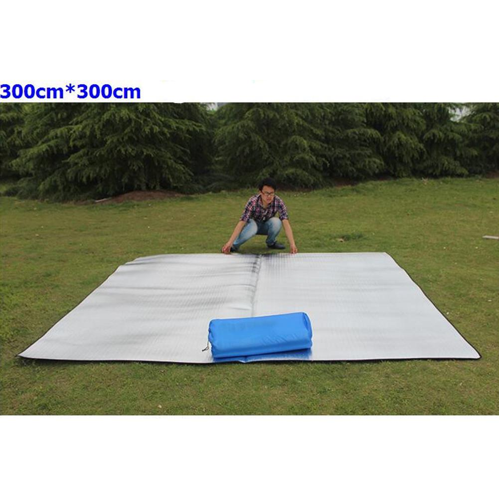 Impermeable de doble cara plegable de aluminio película Pad portátil pequeño Picnic al aire libre Camping Picnic Mat