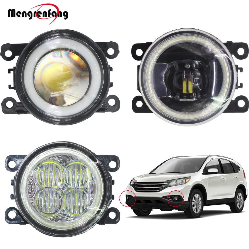 2 x carro led luz de nevoeiro lâmpada h11 halo anel anjo olho drl luz circulação diurna 12v para honda CR-V crv 2.4l l4 2012 2013 2014