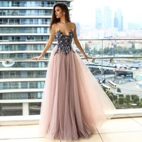 sparkle sweetheart evening dresses 2021 sequin a line sexy party gown tulle backless birthday party dress custom robes de soir%c3%a9e