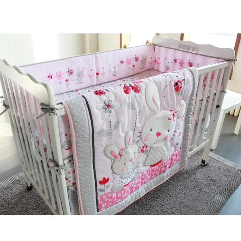 Cartoon Baby Bedding Set Newborns Crib Bed Linen Kid Duver Cover Pillowcase Bedsheet Kid Baby Nursery Decor Custom Made