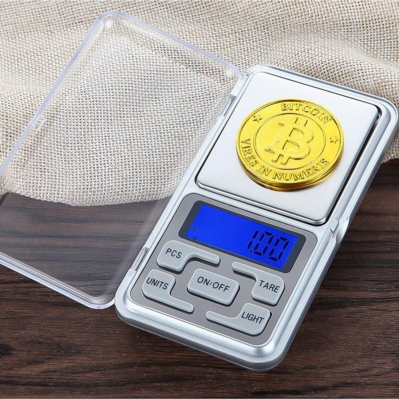 Mini báscula Digital 100/200/300/500g 0,01/0,1g, bolsillo eléctrico de alta precisión con retroiluminación para joyería, peso de Gram, cocina, 1 Uds.