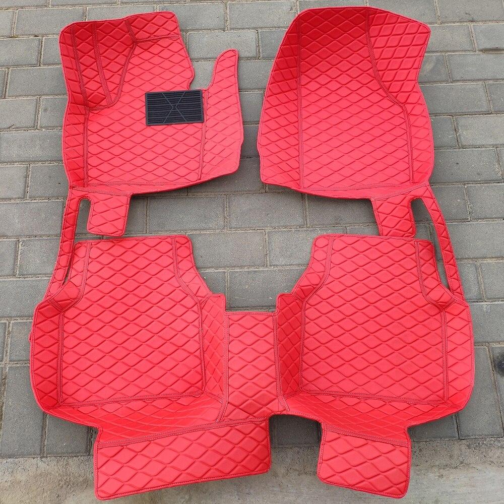 Alfombrilla de coche para peugeot 508 308 sw 5008 2008 3008 307 sw accesorios de coche impermeables alfombrilla de cuero