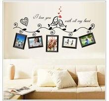 Autocollants muraux originaux darbres Photo, décoration murale en vinyle, style doiseaux, offres spéciales