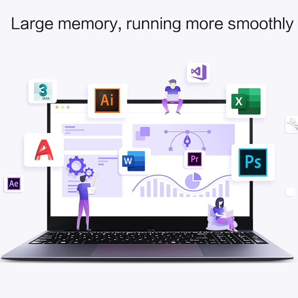 CHUANCHI LapBook Pro 15.6 Inch Intel Quad Core 8GB RAM 128GB 256GB 512GB SSD Laptop Windows 10 Netbook J3455 Ultrabook