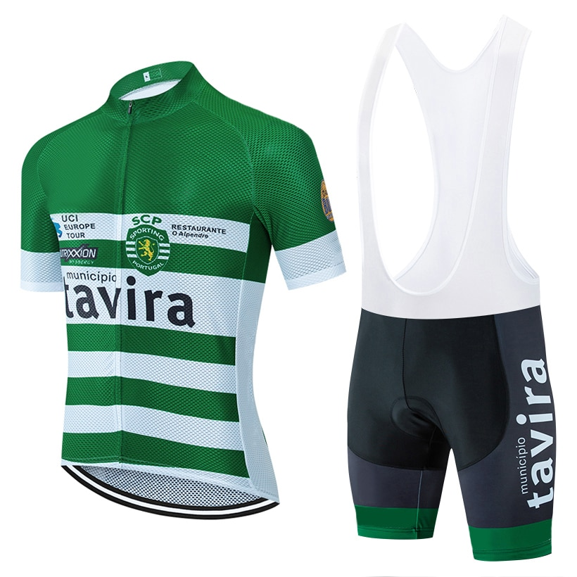 2020 equipo tavira manga corta ciclismo jersey 20D Fluor Bike pantalones hombres mujeres verano MTB camisetas de bicicleta Maillot Culotte wear