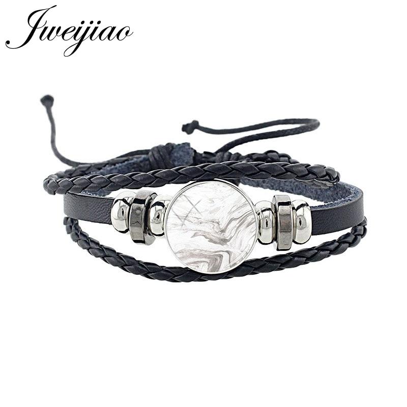 Jweijiao preto couro textura de mármore padrão pulseiras 18mm redondo vidro snap botão jóias artesanal pulseira acessórios mb01