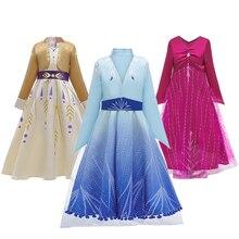 Hielo nieve 2 Cosplay Elsa Anna princesa vestido de fiesta de niñas de verano vestido de la Reina de la nieve fantasía vestidos de bebé niña vestidos