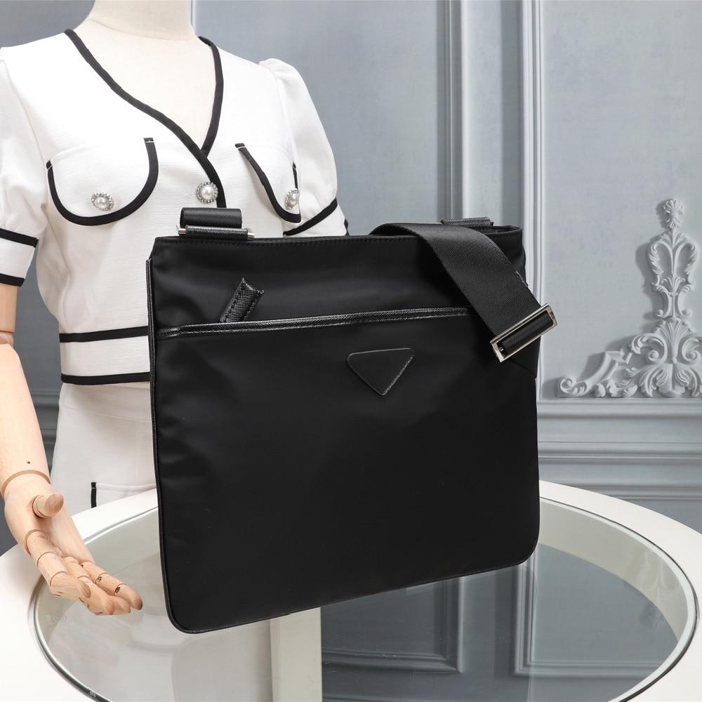 أسود نايلون حقيبة ساعي بريد للرجال رسول حقيبة بسيطة عادية حقيبة كتف ركاب تنوعا خفيفة الوزن حقيبة كتف