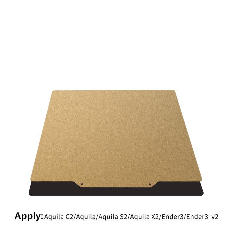طابعة ثلاثية الأبعاد Pei لوح فولاذي مغناطيسي للسرير الساخن مع منصة سرير ساخنة مغناطيسية ناعمة لـ Aquila ender3