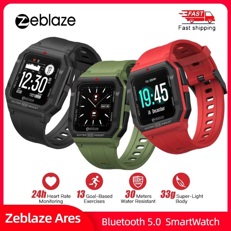 Dias de Vida da Bateria Zeblaze Ares Relógio Inteligente Bluetooth Smartver 3 Atm Freqüência Cardíaca Rastreamento 15 Rastreador Sono Fitness