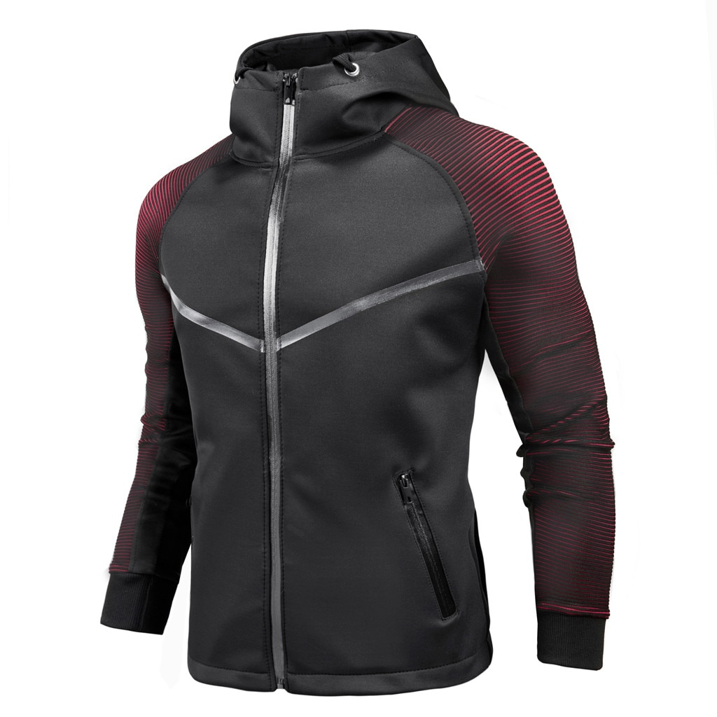 Chaqueta de cárdigan Casual para hombre abrigo degradado de personalidad traje de carreras 2019 prendas de vestir exteriores sudaderas con capucha chaquetas cortavientos para hombre