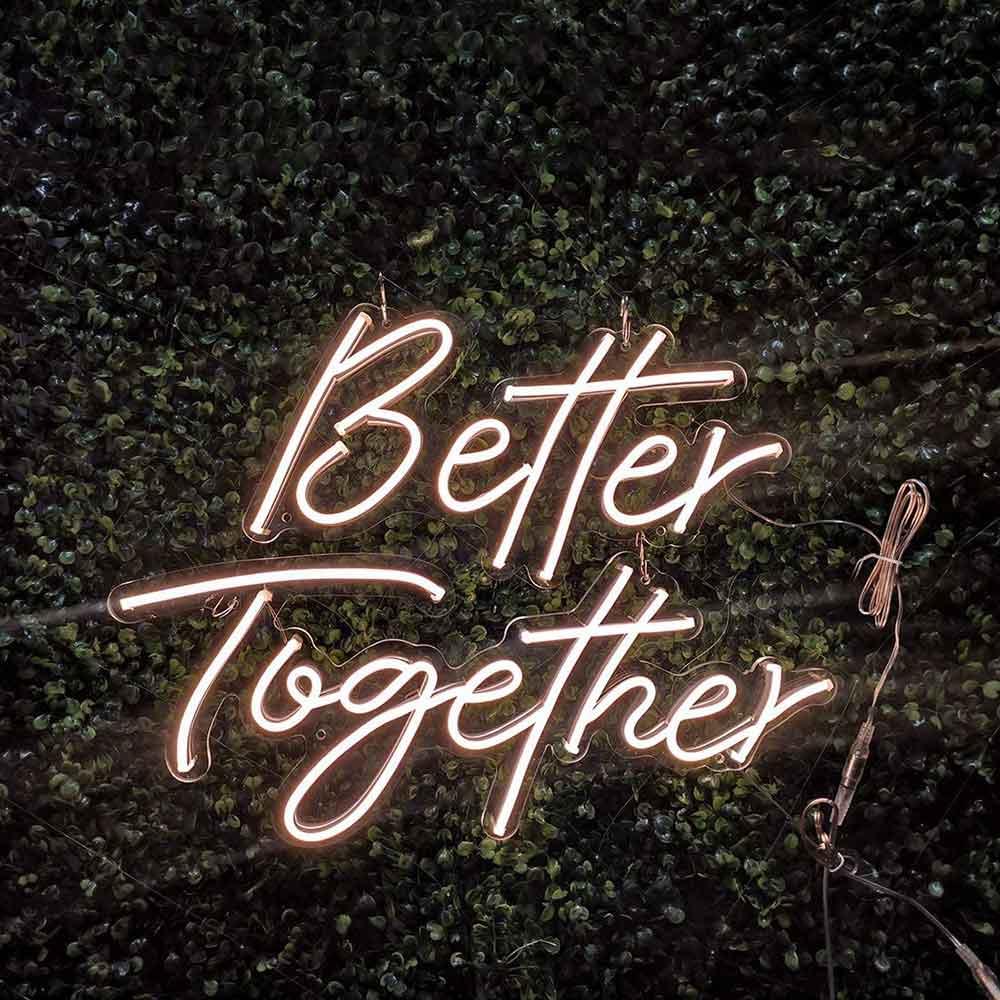 أفضل معا LED النيون تسجيل داخلي أضواء الجدار حفل زفاف متجر نافذة مطعم عيد ميلاد الديكور