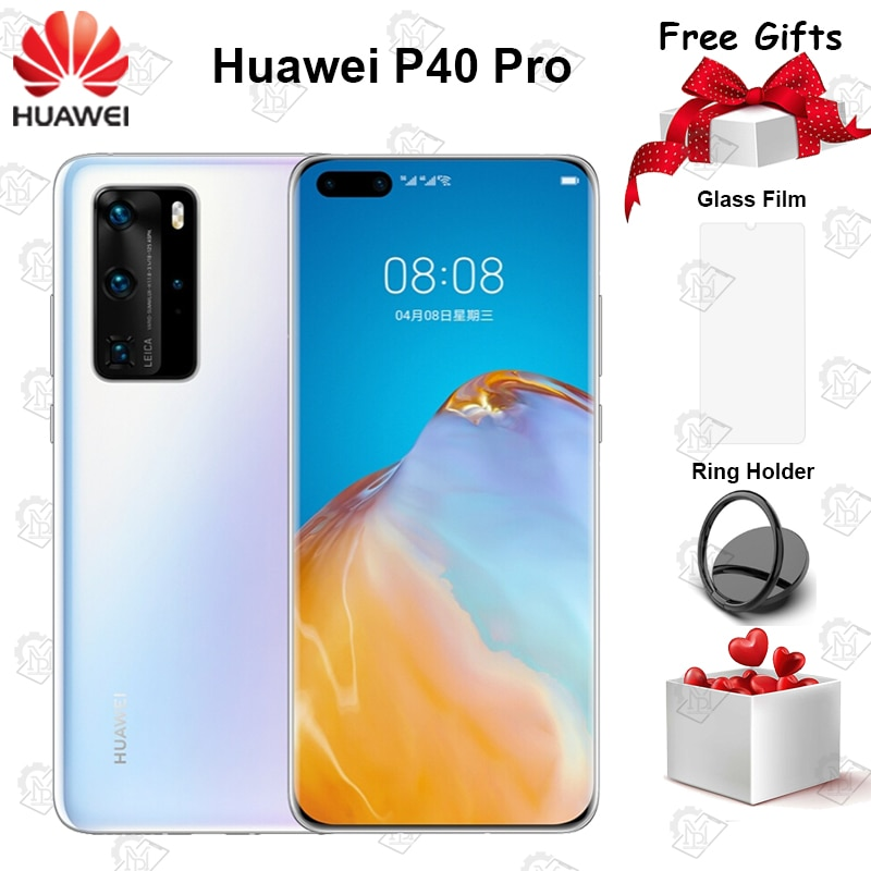 Huawei P40 Pro смартфон с 5,5-дюймовым дисплеем, четырёхъядерным процессором Kirin 6,58, ОЗУ 8 Гб, ПЗУ 128 ГБ, 50 МП, Android 10