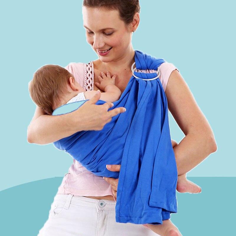 Portabebés de alta calidad, anillo de Metal oxidado, mochila para bebé, 100% de algodón, anillos para bebé, mochilas para niños, bolsa para bebé, envoltura para bebé