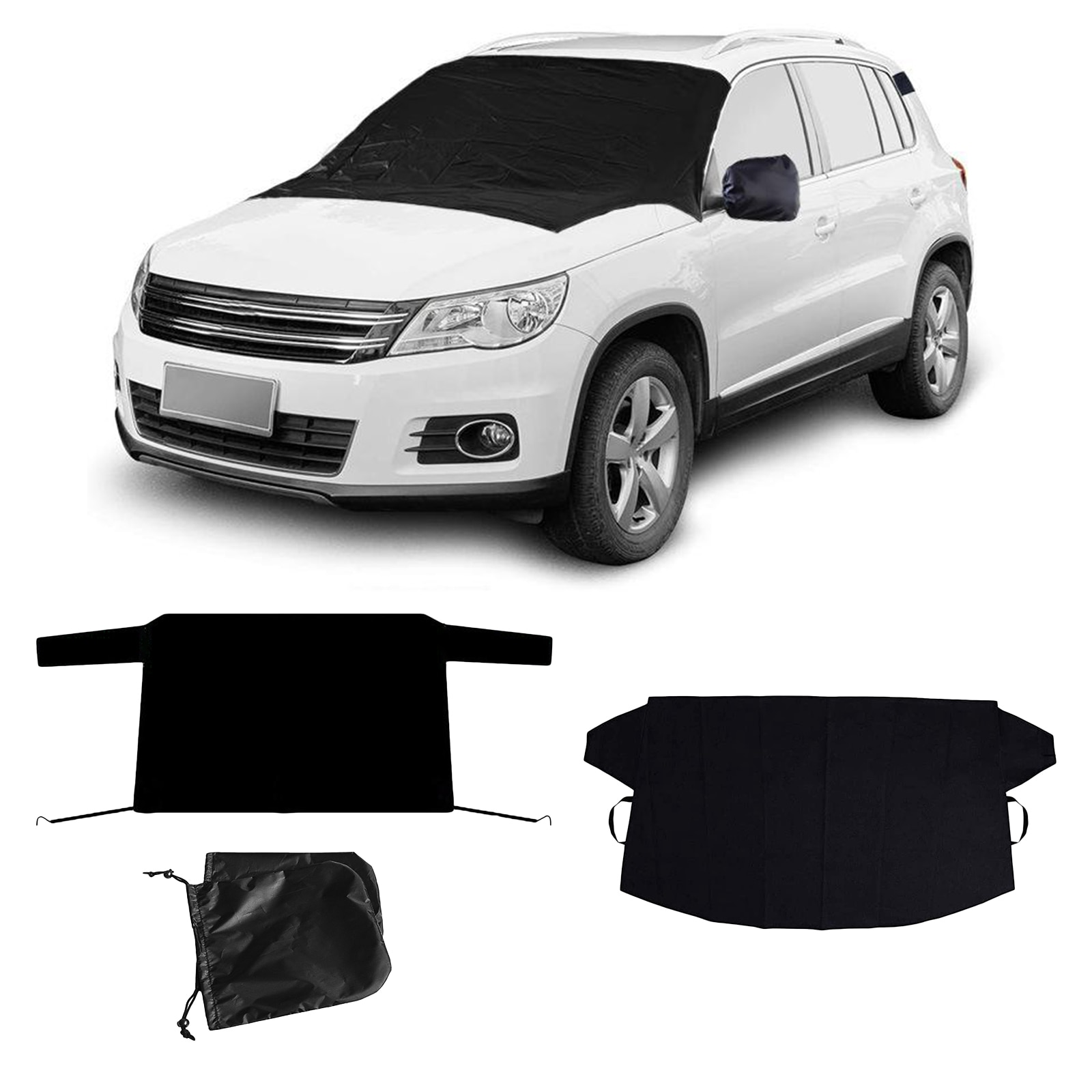 Car Front & Rear Windshield Snow Cover Protector Winter Snow Ice Dust Guard Sun Shade