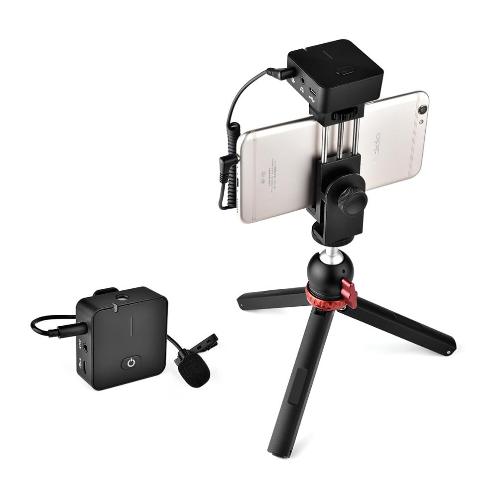 YELANGU Wireless Lavalier Microphone Portable 2.4G Handheld Clip Microphone for Smartphone DSLR Interview Vlog Video Recording enlarge