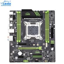 JINGSHA X79 материнская плата LGA2011 CPU MATX USB3.0 SATA3 PCI-E NVME M.2 SSD X79 LGA 2011 материнская плата 4 канала DDR3 до 64 ГБ