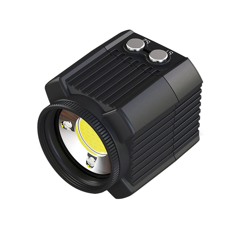 Underwater Camera Flash 60M Waterproof Diving Fill Light 2000Lm For Hero 7 6 5 Action Video Cameras