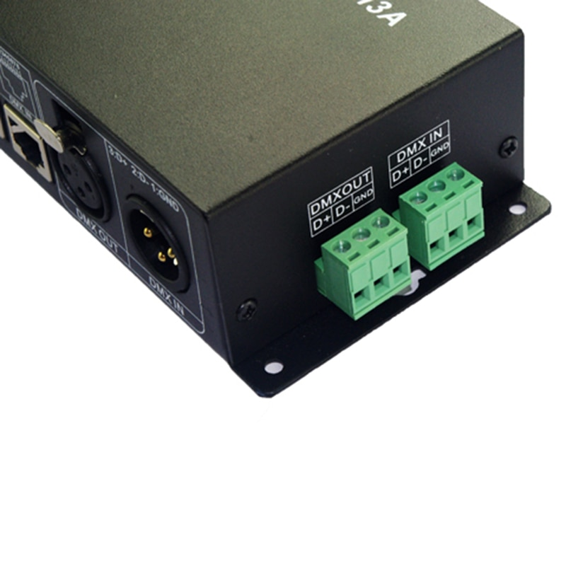 DC12V 24V 27CH dmx512 decoder 27 channel 9 group 1A each channel max 3A Max 81A DMX512 XRL RJ45 led controller WS27CH3A enlarge
