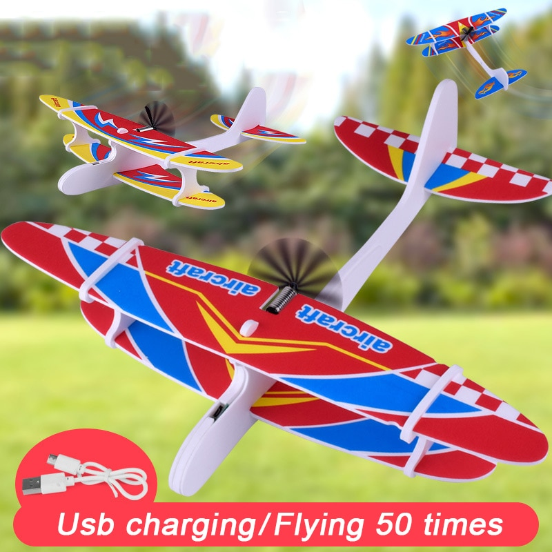 aliexpress.com - Hot Airplanes Capacitor Electric Hand Launch Throwing Glider Aircraft Inertial Foam Toy Plane Model Outdoor Toy Dropshipping Toy