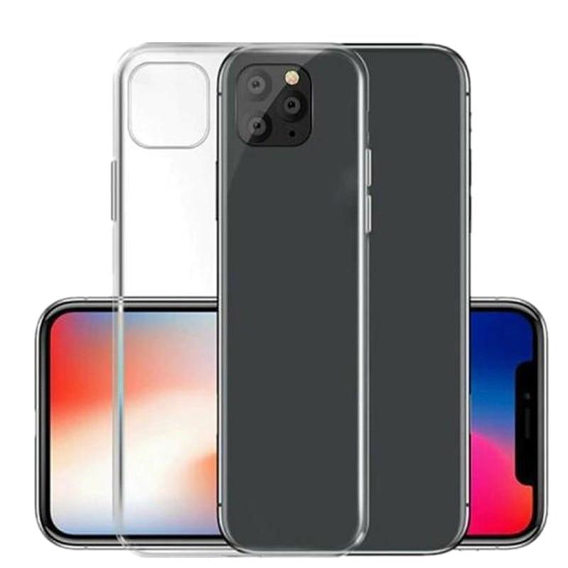Para la nebulosa iPhone 11 Pro Max X XS X XR 7 8 6S Plus 5SE 5S 5 caso Ultra delgada clara suave TPU de cubierta transparente para iphone X