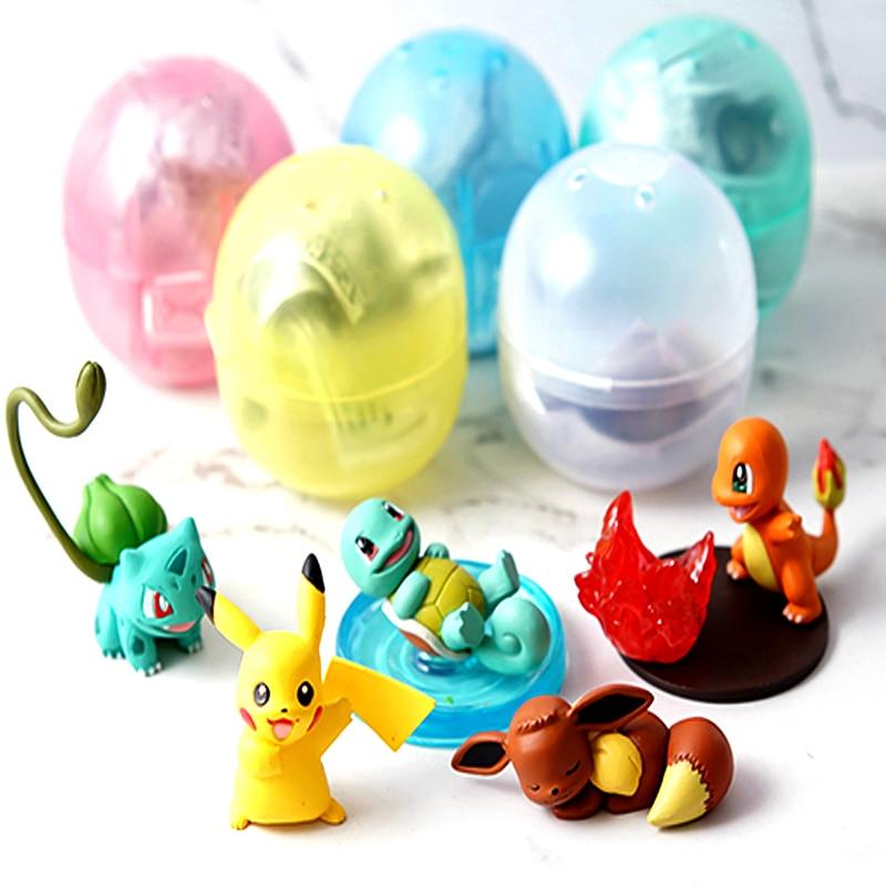 Juguetes originales de pokemon, cápsulas, muñecas, juguetes, juguetes, pikachu Charmander, ardilla, Bulbasaur, modelo de figura de Acción Familiar