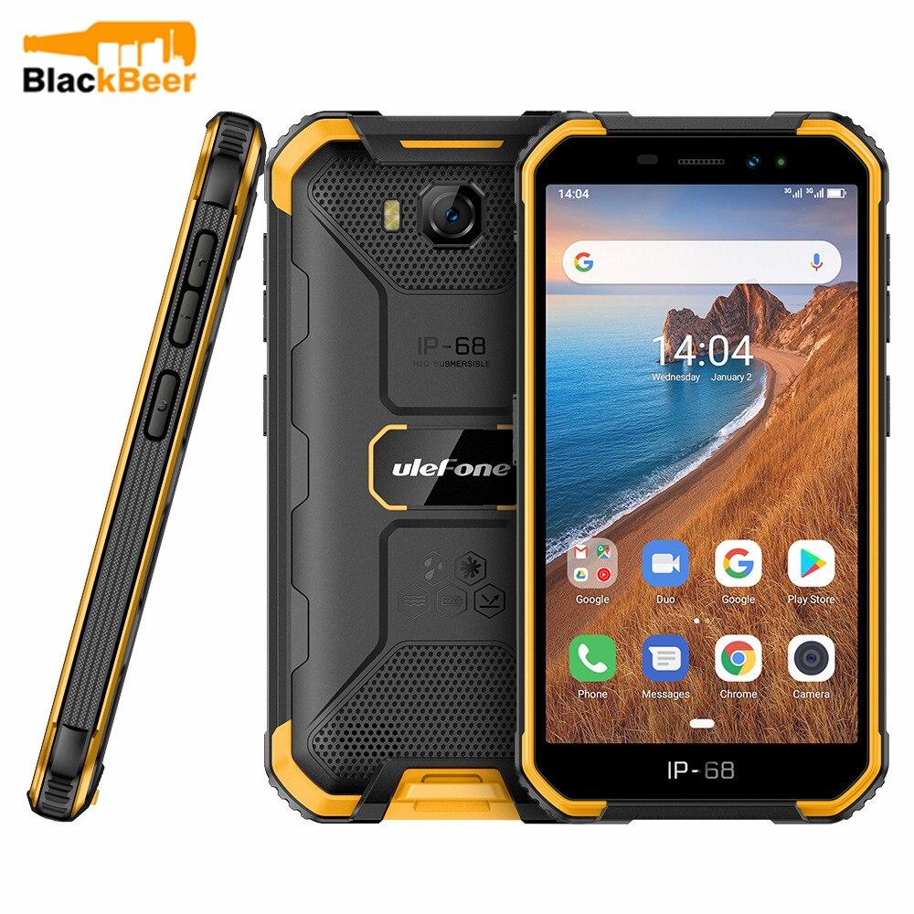 Ulefone Armor X6 3G robusto teléfono móvil IP68/IP69K impermeable Smartphone 5,0 pulgadas MT6580 Quad Core 2GB 16GB teléfono móvil identificación facial