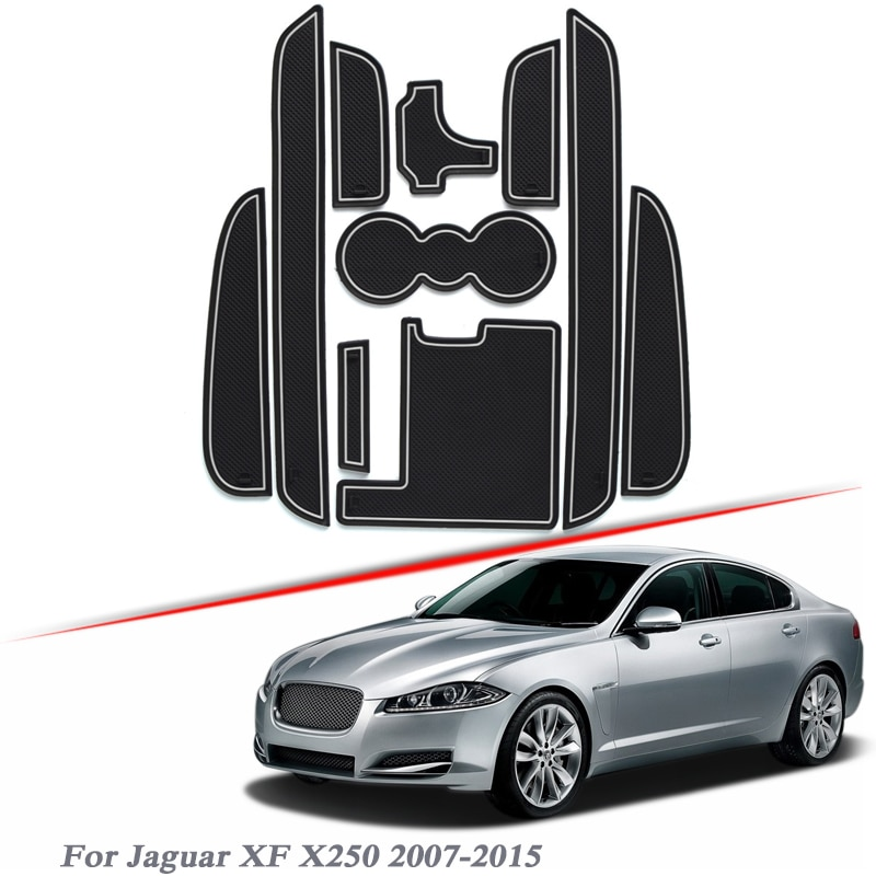 10 piezas de estilo de coche para Jaguar XF X250 2007-2015 almohadilla...