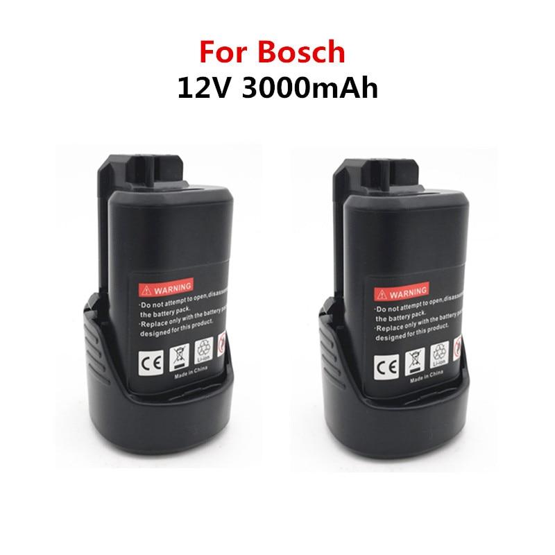 Bateria para Bosch Li-ion Recarregável Bat412a Bat413a D-70745gop 2607336013 2607336014 Ps20-2 Ps40-2 3000mah 10.8v-bat411 12v