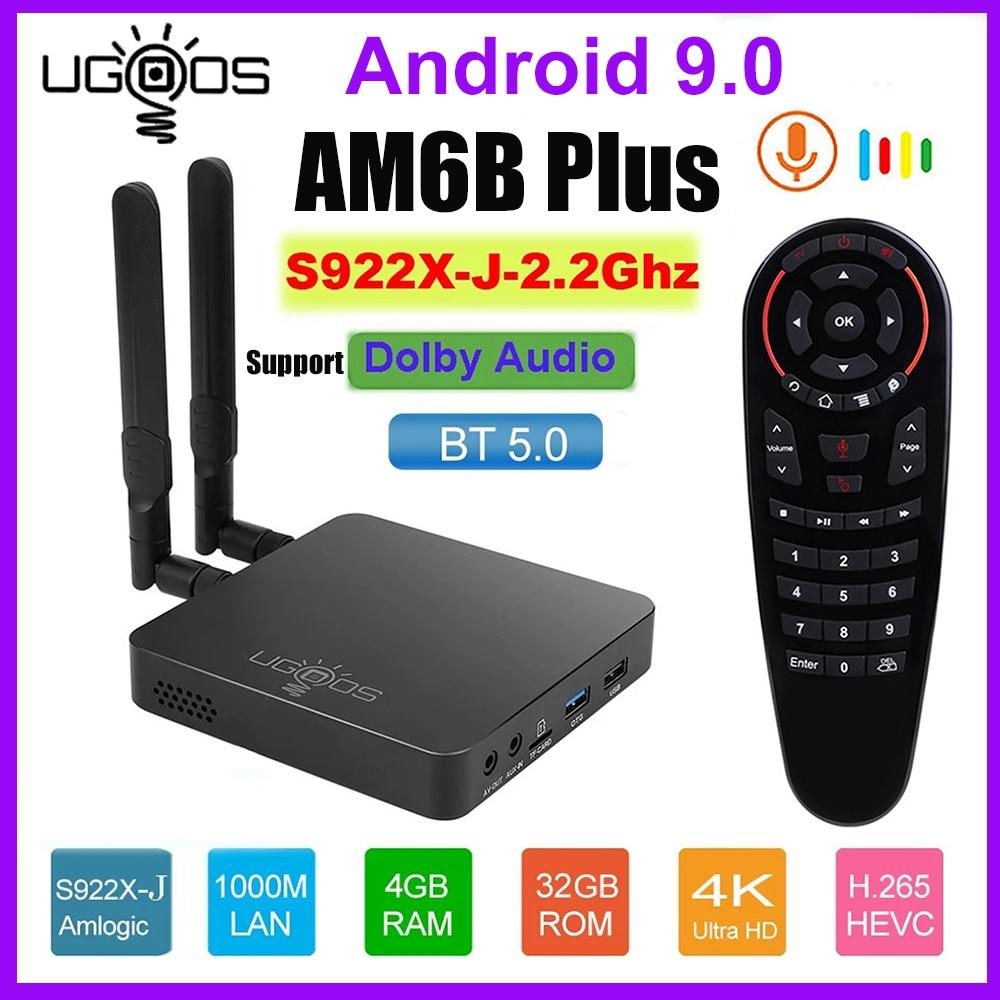 UGOOS AM6B Plus واي فاي 6 صندوق التلفزيون Amlogic S922X-J الذكية أندرويد 9 DDR4 4GB 32GB AM6 Plus 2.4G 5G واي فاي 1000M BT5.0 TVBOX مشغل الوسائط