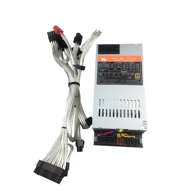 Fuente de alimentación flexible 500w 550W 1U para ordenador módulo completo flexible 550W pequeño 1U fuente de alimentación K39 K35 S3 M41M24 ITX 110V oro
