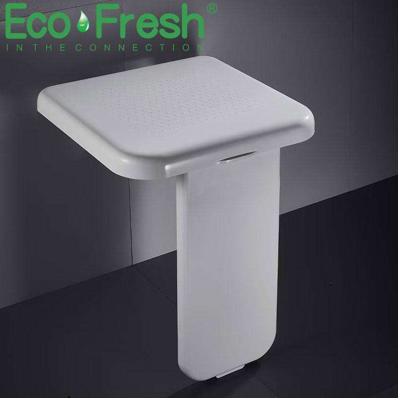 Ecofresh 300 كجم تحمل للطي حمام البراز الحائط مقعد المرحاض المنزلية غرفة الاستحمام حمام مقعد مسند القدم