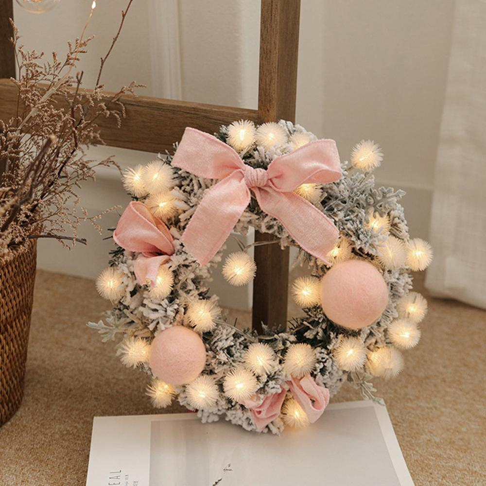 Guirnalda de navidad hecha a mano colgante de ratán guirnalda de compras árbol de navidad puerta decoración guirnalda navidad Cadena de luz