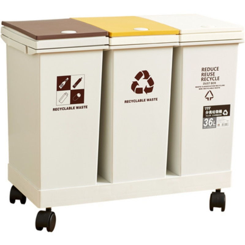 24/36/40/60L علب القمامة للمطبخ الحمام القمامة تصنيف القمامة بن مزبلة دلو الصحافة نوع النفايات بن 2/3 دلاء