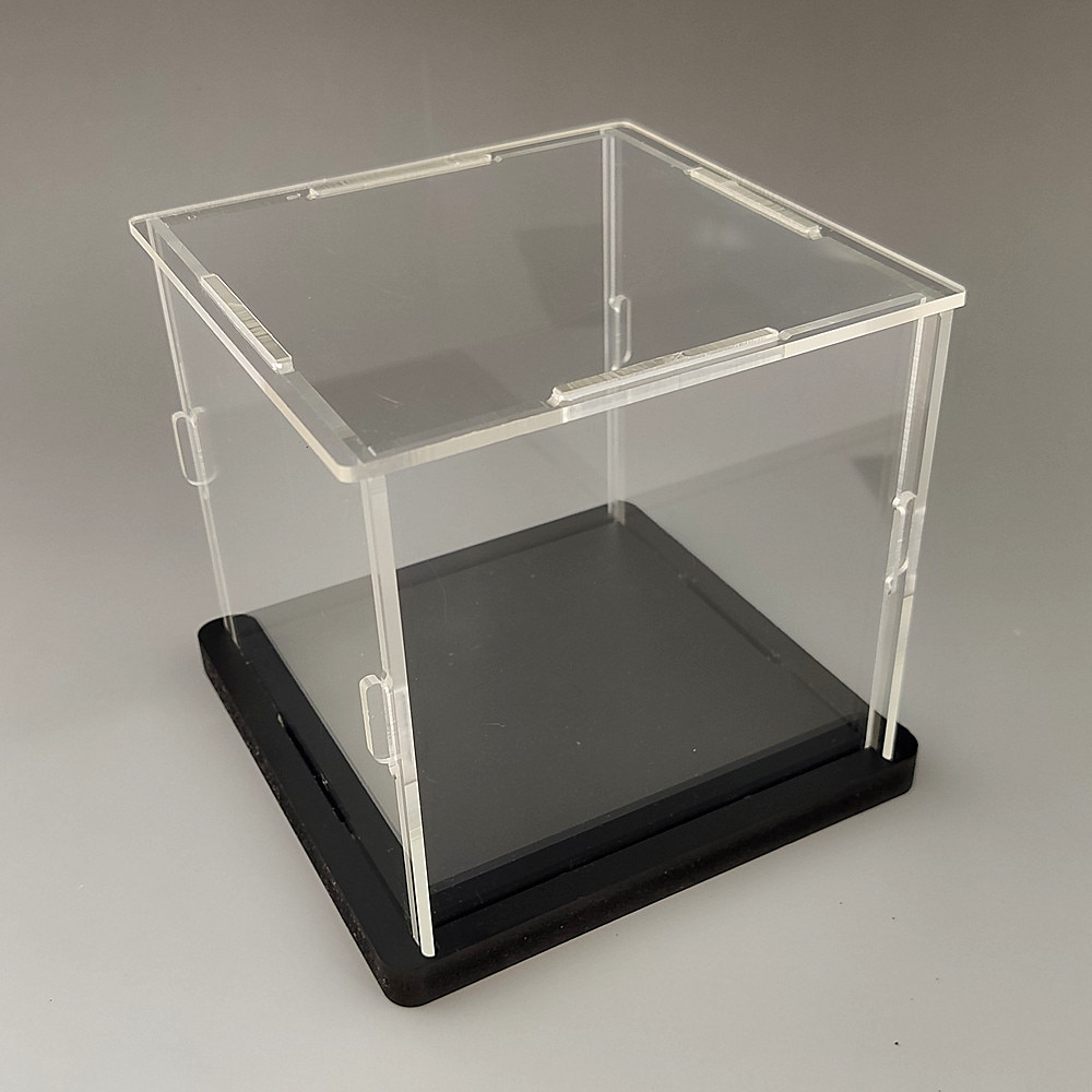 15x20cm Acrylic Display Collect Dust Cover Cabinet for Model Hand-Made Doll Collection Case with Light Easy-Install 1pc