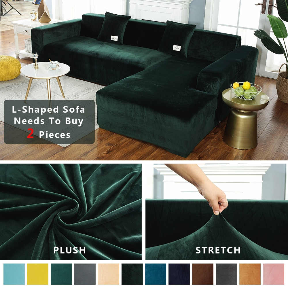AliExpress - Thick Velvet Sofa Cover Universal Stretch Elastic Sofa Cover For Living Room Couch Slipcovers Corner Sofa Covers