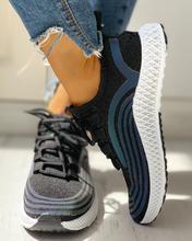 À lacets rayé Muffin espadrilles décontractées chaussures de sport confort