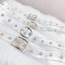 Women Waist Belt Resin Transparent Long Belt Dress Band Belt Heart Pin Buckle Cinturon Mujer Cinturo