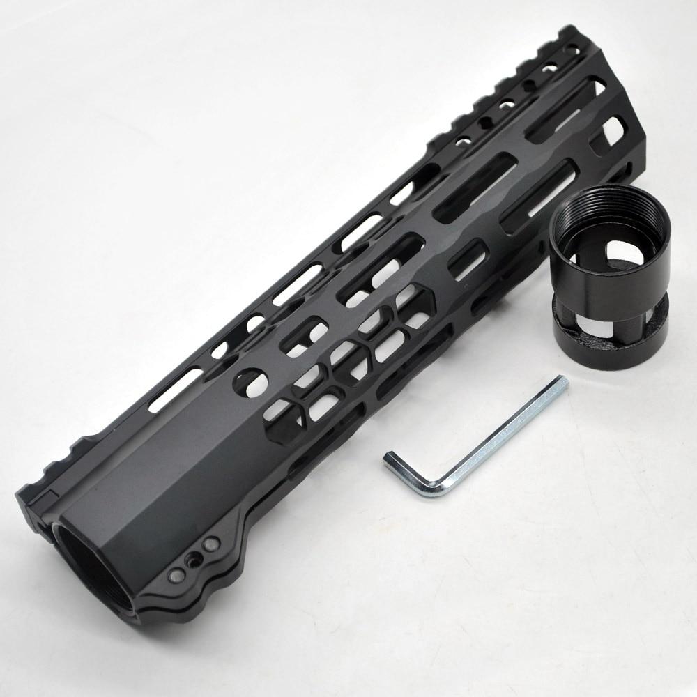 Aplus 9 pulgadas M-Lock protector de mano riel Picatinny montaje sistema _negro anodizado ajuste. 223/5 56 ultraligero corte nuevo diseño