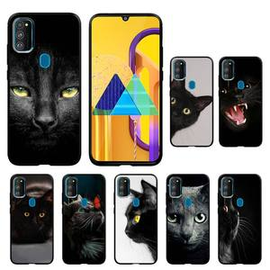 Cute Black Cat Phone Case For Honor 7A 8x 8s 9x 10i 20s 10 20lite 30 Pro PLAY Nax Fundas Cover
