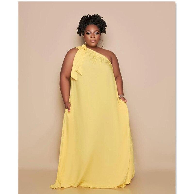 Женское платье с одним открытым плечом, однотонные свободные длинные платья, Женский цельный костюм, повседневный комплект уличной одежды, ...