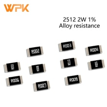 Juego de resistencias de aleación SMD, Kit de resistencia de Chip Ohmic bajo, 2512, 2W, tolerancia 1%, 0.001R, 0.009R, 0.01R, 0.06R, 0.15R, 0.2R, 0,39 Ohm, 50 Uds.