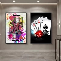 retro vintage decoration picture poker prints pictures for living room frameless fashion art poster for home design wall decor