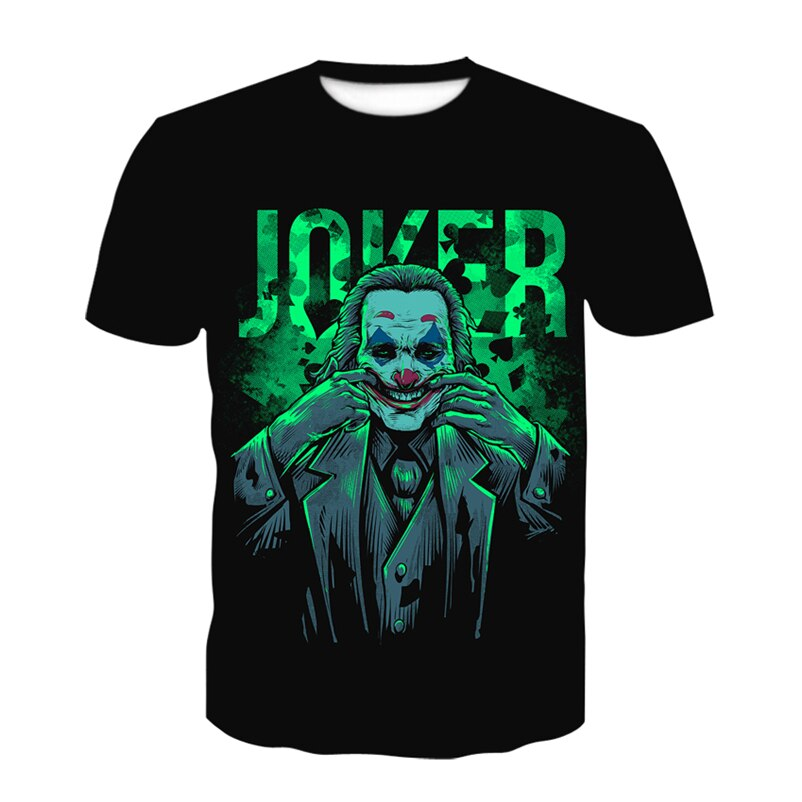 Joker Clown 3D Printed T Shirt Summer Men Women Harajuku T-Shirt Fortniter Oversized Tshirt Boys Teenager Tee Short Sleeve