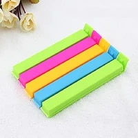 5pcs10pcs 711cm portable new kitchen storage food snack seal sealing bag clips clamp plastic tool sealer accessories