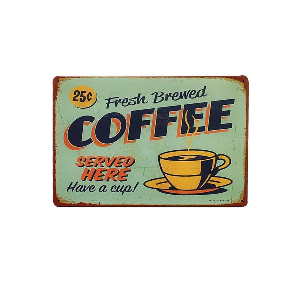 Vintage hojalata Retro cartel creativo café patrón placa estilo Bar Pub pared placa creativa Mental decoración del hogar