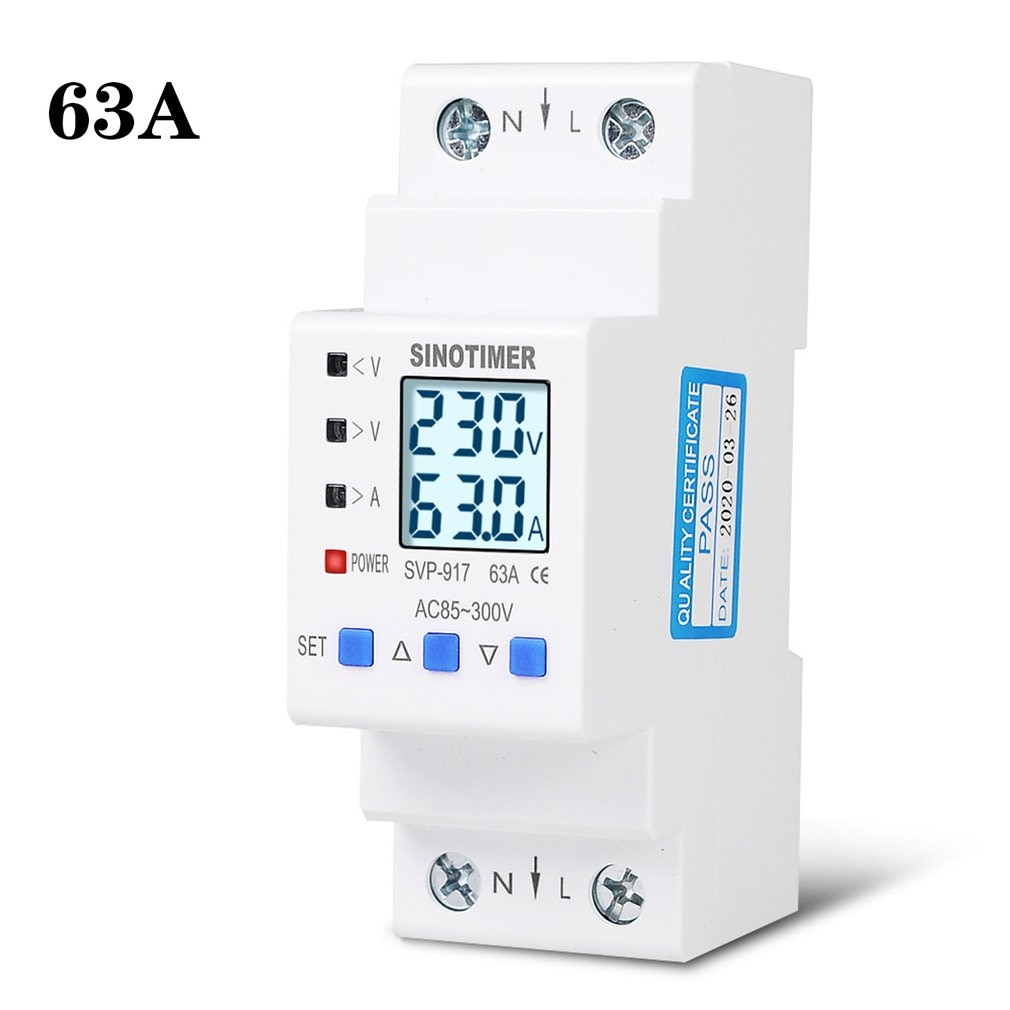 85-300V Adjustable Over And Under Voltage Protective Energy Meter Cycle Switch Timer Delay Control Current Protection