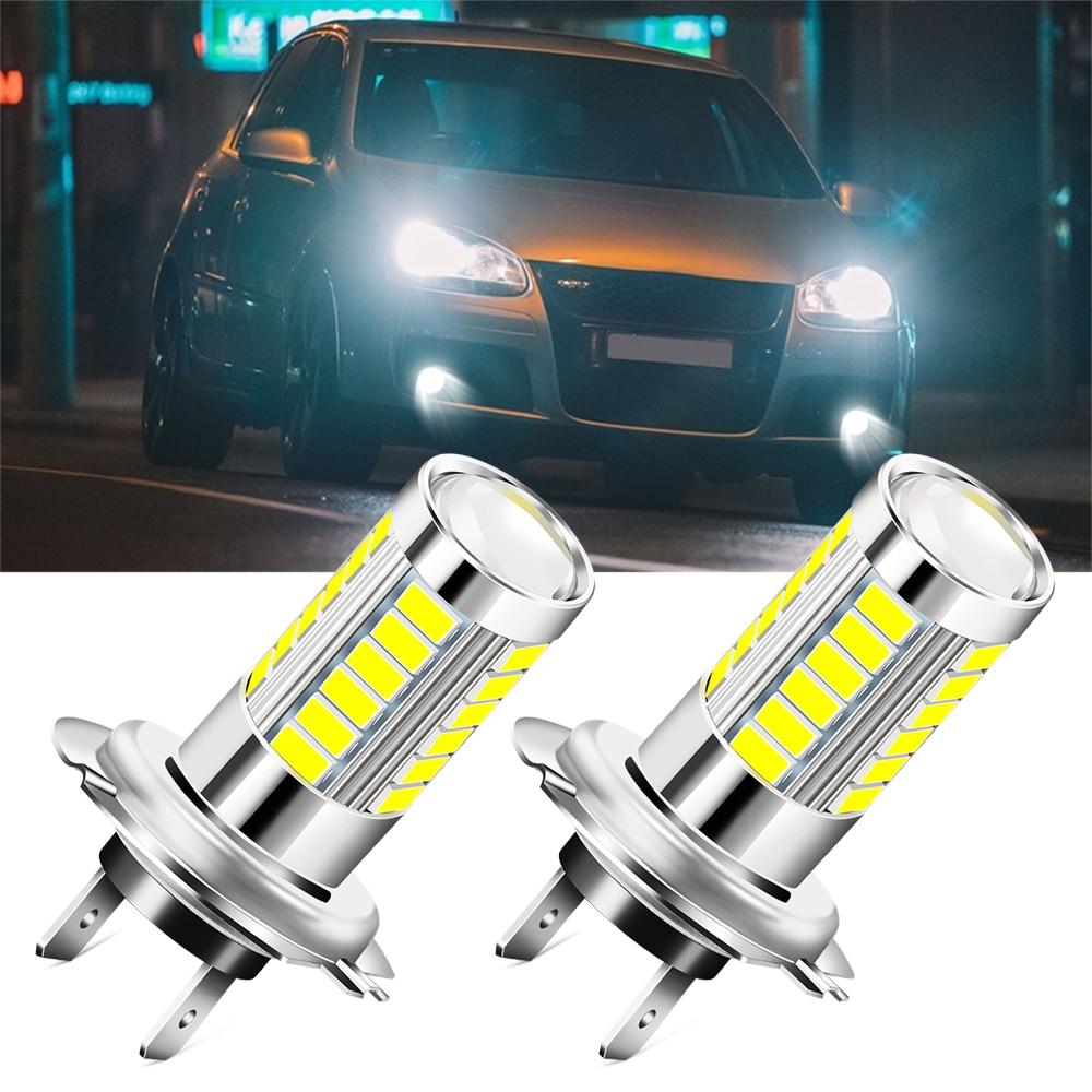 2pcs H7 LED Bulb Car Light Headlamp Fog Light Bulbs for Volkswagen golf 4 5 6 7 POLO Tiguan PASSAT TOURAN Scirocco BEETLE