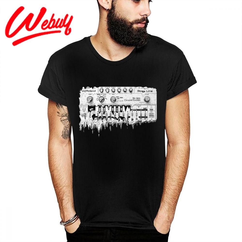 Amazing Synthesizer Roland TB 303 T Shirt Synth Analog Korg Techno Electronic Music Great Cotton T-shirt Unique Custom Tee Shirt
